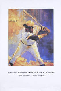 WILLIE STARGELL - AUTOGRAPHED SIGNED POSTER
