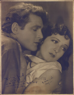 CITY GIRL MOVIE CAST - AUTOGRAPHED INSCRIBED PHOTOGRAPH CO-SIGNED BY: CHARLES FARRELL, MARY DUNCAN