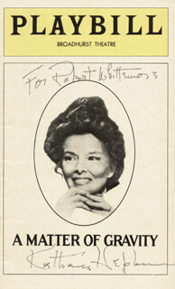 KATHARINE HEPBURN - INSCRIBED SHOW BILL SIGNED