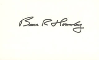 BRUCE R. HORNSBY - AUTOGRAPH