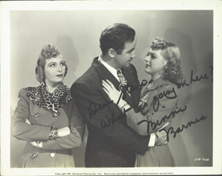 BINNIE BARNES - AUTOGRAPHED SIGNED PHOTOGRAPH