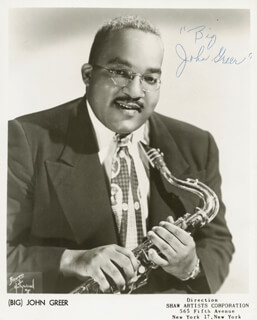 JOHN BIG GREER - AUTOGRAPHED SIGNED PHOTOGRAPH