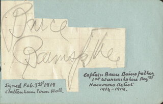 BRUCE BAIRNSFATHER - CLIPPED SIGNATURE CIRCA 1919