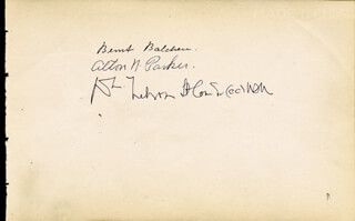 Autographs: BERNT BALCHEN - SIGNATURE(S) CO-SIGNED BY: ALTON N. PARKER, LUCIUS R. EASTMAN