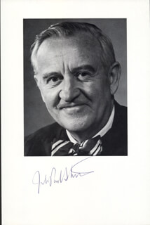 ASSOCIATE JUSTICE JOHN PAUL STEVENS - AUTOGRAPHED SIGNED PHOTOGRAPH
