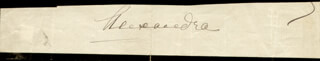 Autographs: QUEEN ALEXANDRA OF DENMARK (GREAT BRITAIN) - SIGNATURE(S)