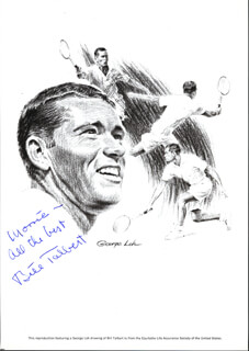 BILL TALBERT - INSCRIBED ILLUSTRATION SIGNED