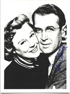 GLENN MILLER STORY MOVIE CAST - AUTOGRAPHED SIGNED PHOTOGRAPH CO-SIGNED BY: JAMES JIMMY STEWART, JUNE ALLYSON