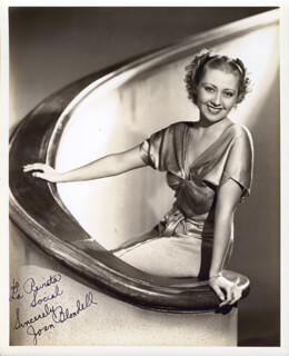 JOAN BLONDELL - AUTOGRAPHED INSCRIBED PHOTOGRAPH