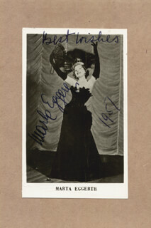 MARTA EGGERTH - AUTOGRAPHED SIGNED PHOTOGRAPH 1957