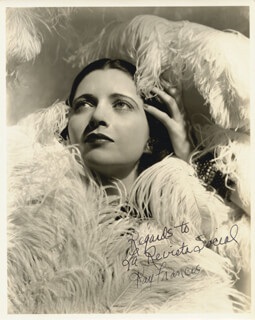KAY FRANCIS - AUTOGRAPHED INSCRIBED PHOTOGRAPH