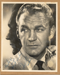 FORREST TUCKER - PRINTED PHOTOGRAPH SIGNED IN INK