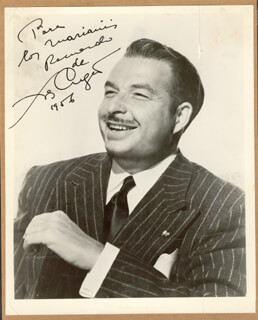 Autographs: XAVIER CUGAT - INSCRIBED PHOTOGRAPH SIGNED 1956