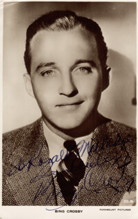 BING CROSBY - INSCRIBED PICTURE POSTCARD SIGNED 1935