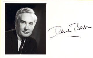 Autographs: DEREK BARTON - PHOTOGRAPH MOUNT SIGNED