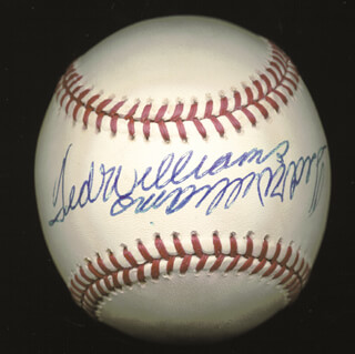 TED WILLIAMS - AUTOGRAPHED SIGNED BASEBALL