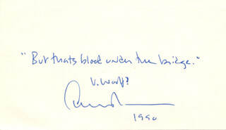 Autographs: EDWARD ALBEE - AUTOGRAPH QUOTATION SIGNED CIRCA 1990