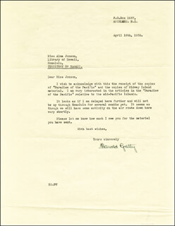 HAROLD GATTY - TYPED LETTER SIGNED 04/18/1939