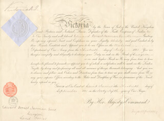 QUEEN VICTORIA (GREAT BRITAIN) - MILITARY APPOINTMENT SIGNED 09/30/1881