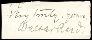 Autographs: WALTER REED - AUTOGRAPH SENTIMENT SIGNED
