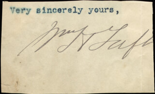 Autographs: PRESIDENT WILLIAM H. TAFT - CLIPPED SIGNATURE