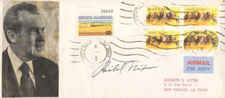 PRESIDENT RICHARD M. NIXON - ENVELOPE SIGNED