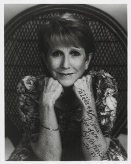 JULIE HARRIS - AUTOGRAPHED INSCRIBED PHOTOGRAPH 02/1988