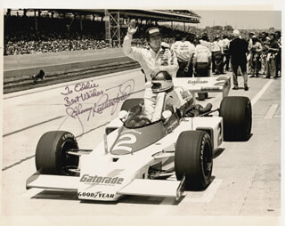 JOHNNY RUTHERFORD - AUTOGRAPHED INSCRIBED PHOTOGRAPH