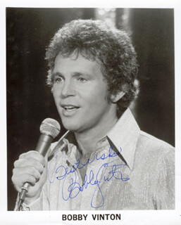 BOBBY VINTON - AUTOGRAPHED SIGNED PHOTOGRAPH