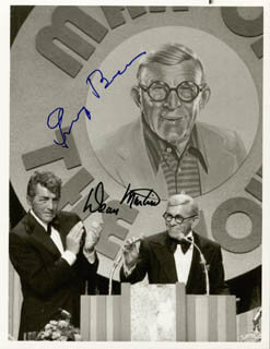 GEORGE BURNS - AUTOGRAPHED SIGNED PHOTOGRAPH CO-SIGNED BY: DEAN MARTIN