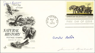 SAMUEL B. BECKETT - FIRST DAY COVER SIGNED CO-SIGNED BY: CZESLAW MILOSZ, SAUL BELLOW