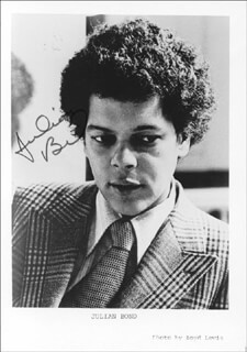 JULIAN BOND - PRINTED PHOTOGRAPH SIGNED IN INK