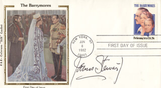 JAMES JIMMY STEWART - FIRST DAY COVER SIGNED