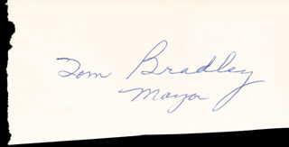 MAYOR TOM BRADLEY - AUTOGRAPH
