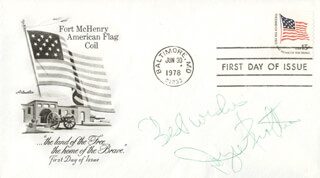 DR. JOYCE BROTHERS - FIRST DAY COVER WITH AUTOGRAPH SENTIMENT SIGNED