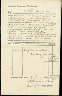 MAJOR GENERAL HENRY DEARBORN - DOCUMENT SIGNED 12/10/1810 CO-SIGNED BY: JAMES LOVELL
