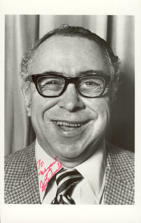 ART BUCHWALD - AUTOGRAPHED INSCRIBED PHOTOGRAPH