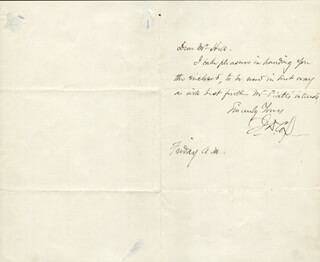 Autographs: MAJOR GENERAL JACOB D. COX - AUTOGRAPH LETTER SIGNED CIRCA 1897