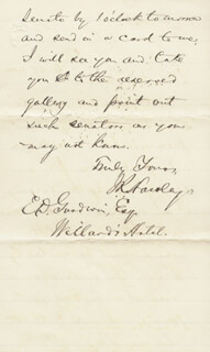 MAJOR GENERAL JOSEPH R. HAWLEY - AUTOGRAPH LETTER SIGNED 02/18/1883