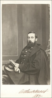 Autographs: MAJOR GENERAL ARTHUR C. DUCAT - PHOTOGRAPH MOUNT SIGNED 1862