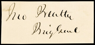 Autographs: BRIGADIER GENERAL JOHN BEATTY - SIGNATURE(S)