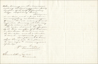 MAJOR GENERAL EDWARD HATCH - AUTOGRAPH LETTER SIGNED 03/15/1889