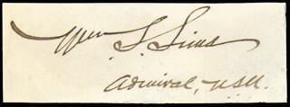 ADMIRAL WILLIAM S. SIMS - AUTOGRAPH