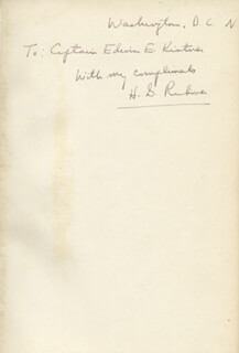 ADMIRAL HYMAN G. RICKOVER - INSCRIBED BOOK SIGNED