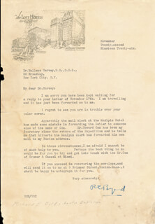 Autographs: REAR ADMIRAL RICHARD E. BYRD - TYPED LETTER SIGNED 11/22/1926