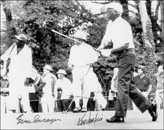 GENE SARAZEN - AUTOGRAPHED SIGNED PHOTOGRAPH CO-SIGNED BY: KEN VENTURI