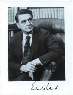 EDWIN H. LAND - AUTOGRAPHED SIGNED PHOTOGRAPH