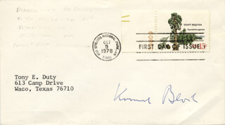 Autographs: KONRAD E. BLOCH - FIRST DAY COVER SIGNED