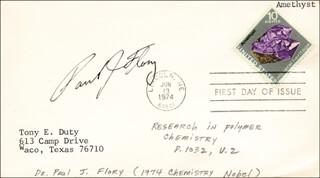 Autographs: PAUL J. FLORY - FIRST DAY COVER SIGNED