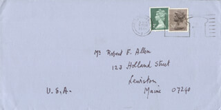 SIR LENNOX BERKELEY - AUTOGRAPH ENVELOPE UNSIGNED CIRCA 1981